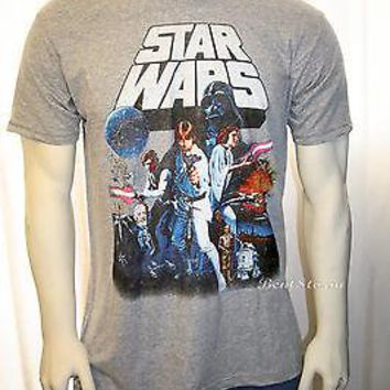 Licensed cool Star Wars New Hope Vintage Movie Poster  Design Men's Tee Shirt T XS-XL Licensed