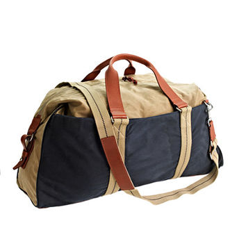 J.Crew Mens Abingdon Weekender Bag In Two-Tone