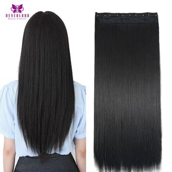 Straight pure Black Synthetic Hair For Women