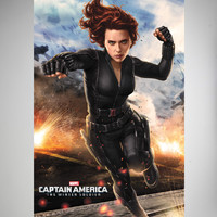 Captain America Black Widow Poster