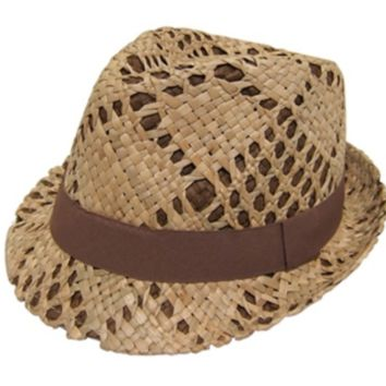 Fancy, Handwoven Straw Fedora