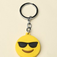 SUNGLASSES FACE KEYCHAIN