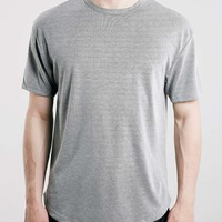 Grey Ribbed Oversized T-Shirt - Topman
