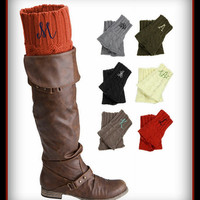 Monogrammed Boot Cuff - Personalized Socks