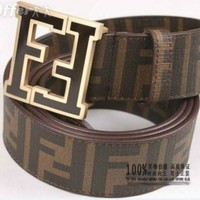 CHEN1ER FENDI CLASSIC BUCKLE MEN'S AND WOMEN'S LEATHER BELT