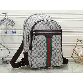 Gucci sells printed men's and women's fashionable backpacks