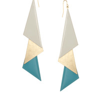 Nali Triangle Abstract Drop Earrings