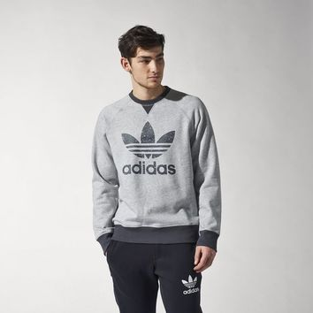 adidas Sport Essentials Crew Sweatshirt - Grey | adidas US