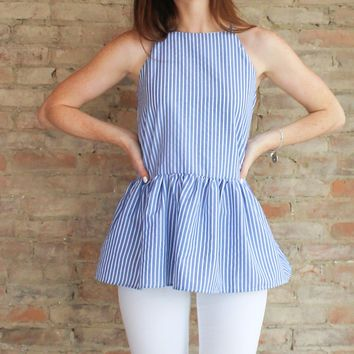 Seaside Peplum Tunic Top