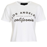 Petite Los Angeles Crop Tee - New In This Week - New In - Topshop USA