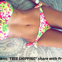 Floral Bikini With Removable Padding Swimsuit