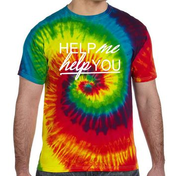 Men's Colorful T Shirt Help Me Help You Popular Cool Tee