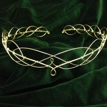 Silver Plated Medieval Celtic LOTR Fantasy Faerie Circlet
