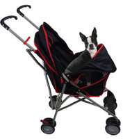Covered Pet Stroller Walker Puppy Kitty Dog Travel Carrier Jogger Kitten