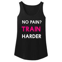 Train harder workout tank. Women's workout tank. Motivational workout tank for women. Fitness tanks. Gym tanks. Exercise tanks. Fitness gift