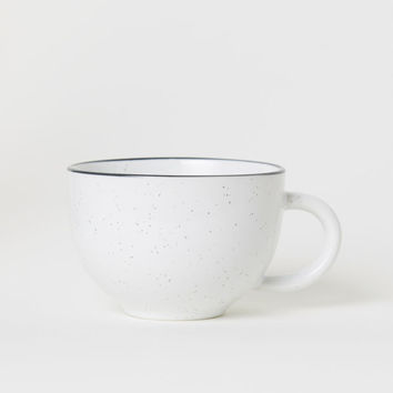 Stoneware Mug - White/speckled - Home All | H&M US