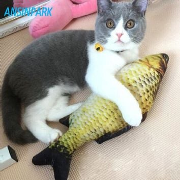 ANSINPARK cat for fish toy plush stuffed dog toy fish fish shaped cat scratching post for pet dogs catnip scratch board 1pcs f88