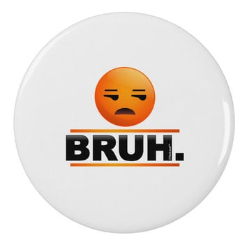 "Bruh Emoji 2.25"" Round Pin Button"