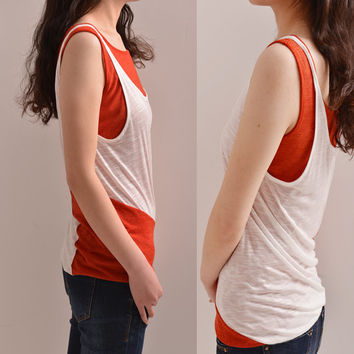 Sunburst - layered tank top (Y5117)