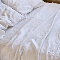 White Linen Bed Set