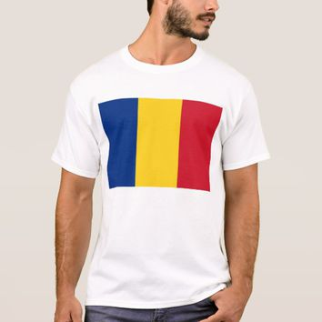 T Shirt with Flag of Romania