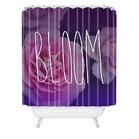 Leah Flores Bloom Shower Curtain