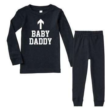baby daddy funny new Infant long sleeve pajama set