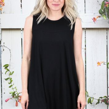 Oversized Swing Tunic Tank {Black}