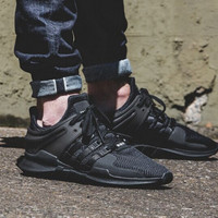 "Love Q333 ""Adidas"" Men's Equipment EQT Support ADV Black Casual Sports Shoes"