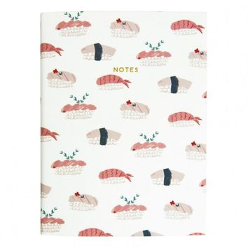 Urban Outfitters x Ohh Deer White Sushi Linen Notebook