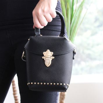 Small Gold Studded Clutch