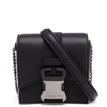 Grained Leather Safety Buckle Bag - CHRISTOPHER KANE