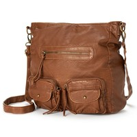 Mudd Juliet Convertible Crossbody Bag (Brown)