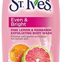 St. Ives Even and Bright Body Wash, Pink Lemon and Mandarin Orange 13.5 oz