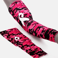 Sleefs BCA Pink Ribbon Digital Camo Black Ribbon Arm Sleeve