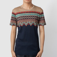 Multicolor Printed Knit Jersey T-Shirt
