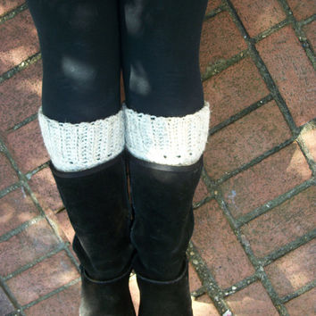 Boot Cuffs, Legwarmers , Boot Socks , Cream Wool , Winter Trend