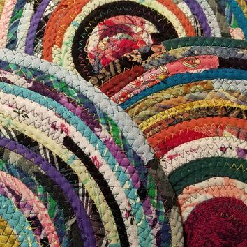 Multicolor Fabric Placemat, Choose Your Colors & Size, Handmade Round Cloth Table Mat, Boho Decor