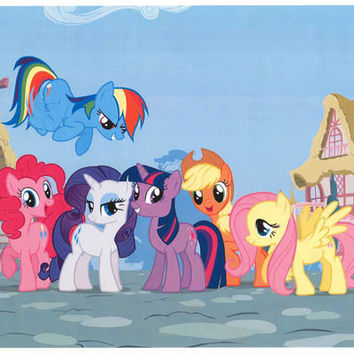 My Little Pony Friendship Village Cartoon Poster 11x17