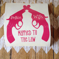 Police Wife Decal - Police Husband Decal - Police Wife Car Sticker