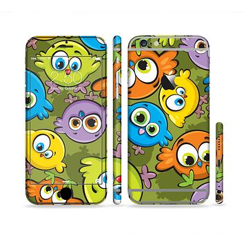 The Colorful Highlighted Cartoon Birds Sectioned Skin Series for the Apple iPhone 6 Plus