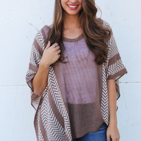 Autumn Chevron Poncho