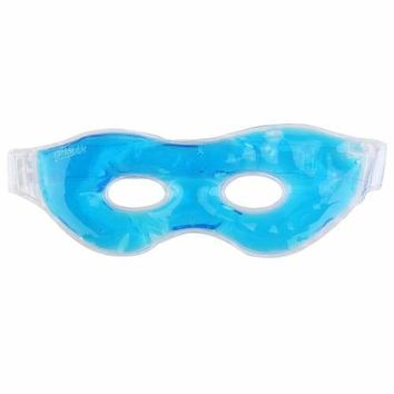 Multifunction Reusable Cold /Hot Therapy Soothing Relaxing Beauty Gel Eye Mask Sleeping Ice Goggles (Blue)