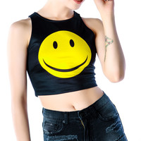 Everland Good Day Sunshine Crop Tank Black/Yellow