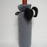 Bond Bow Tie Wine Bottle Cozy