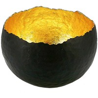 One Kings Lane - Serve Up a Scare - Gold Amalfi Bowl, Medium