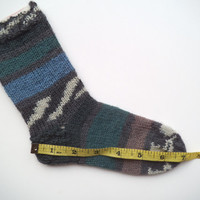 Sale! Handmade Warm boy's Socks, toddler socks, Winter socks, Unique socks, House socks, Boot socks, Sleeping socks, Striped socks
