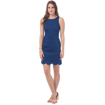 Charleston Scallop Dress in Yacht Blue by Southern Tide - FINAL SALE