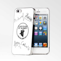5 Seconds Of Summer (5sos) Sicenced iPhone 4s iphone 5 iphone 5s iphone 6 case, Samsung s3 samsung s4 samsung s5 note 3 note 4 case, iPod 4 5 Case