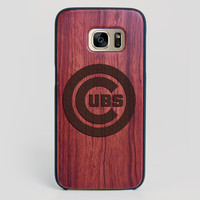 Chicago Cubs Galaxy S7 Edge Case - All Wood Everything